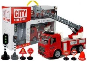 Zestaw Straż Pożarna + znaki drogowe dźwięki światła