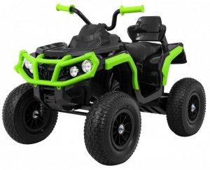 Quad na akumulator dla dzieci ATV Pompowane Koła Czarno-Zielony