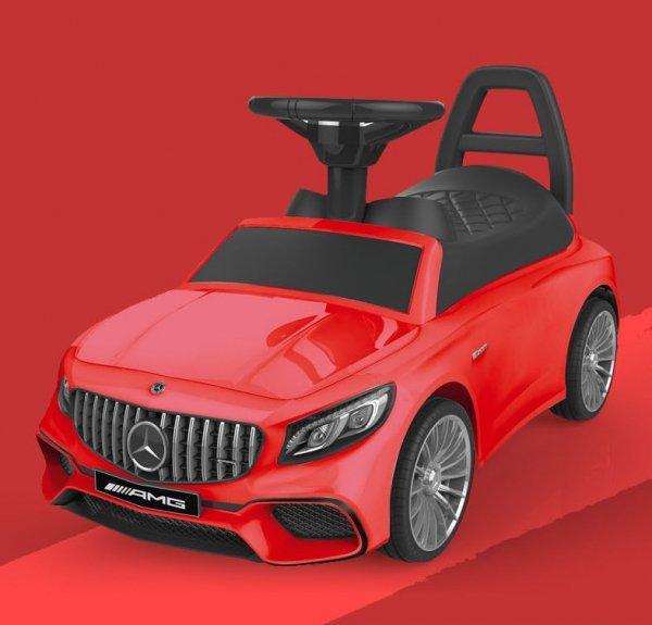 Jeździk Mercedes AMG dźwięki LED - czerwony