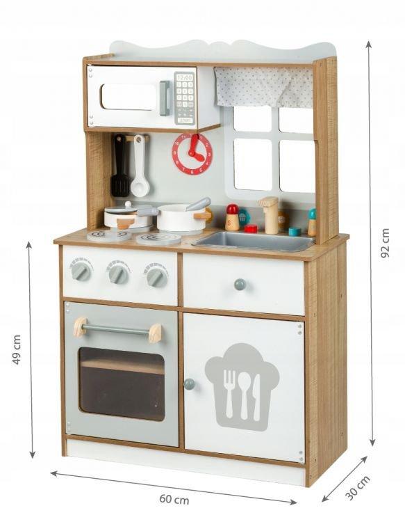 Drewniana kuchnia skandynawska + akcesoria Ecotoys