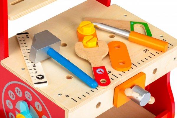 Drewniany warsztat narzędzia pchacz Ecotoys