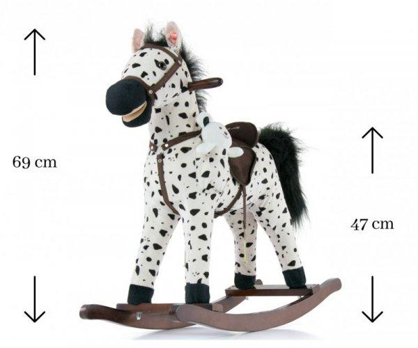 Konik na biegunach Mustang Black Dot Milly Mally