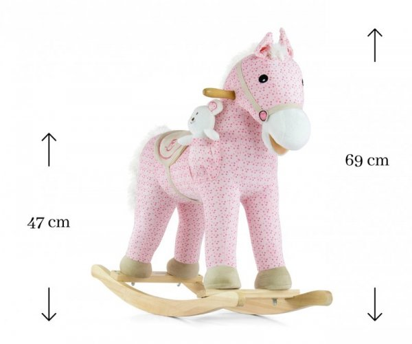 Konik na biegunach Pony Pink Milly Mally