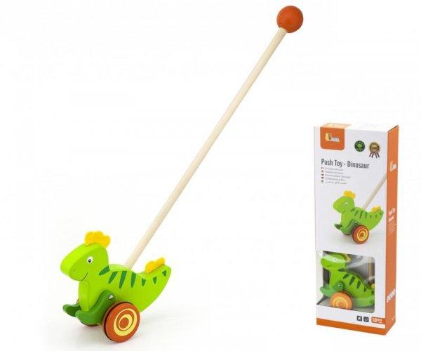 Drewniany pchacz dinozaur Viga