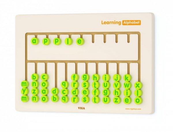 Drewniana sensoryczna tablica - nauka alfabetu Viga