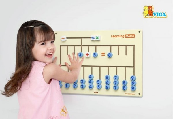 Drewniana sensoryczna tablica - nauka cyferek Viga