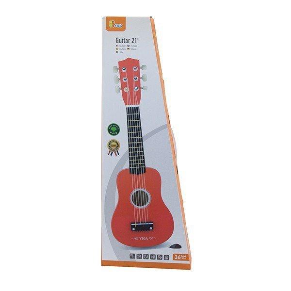 Czerwona gitara - 21 cali Viga