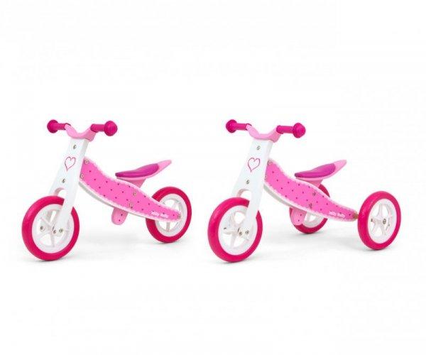 Drewniany rowerek biegowy 2w1 Look Hearts Milly Mally
