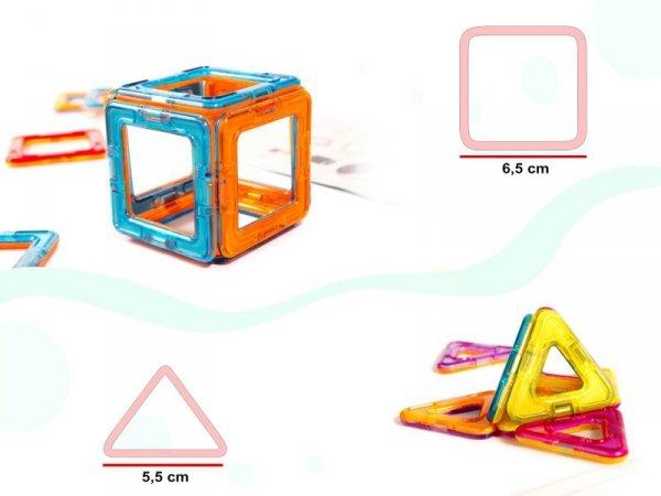 Kolorowe klocki magnetyczne MAGICAL MAGNET 40szt