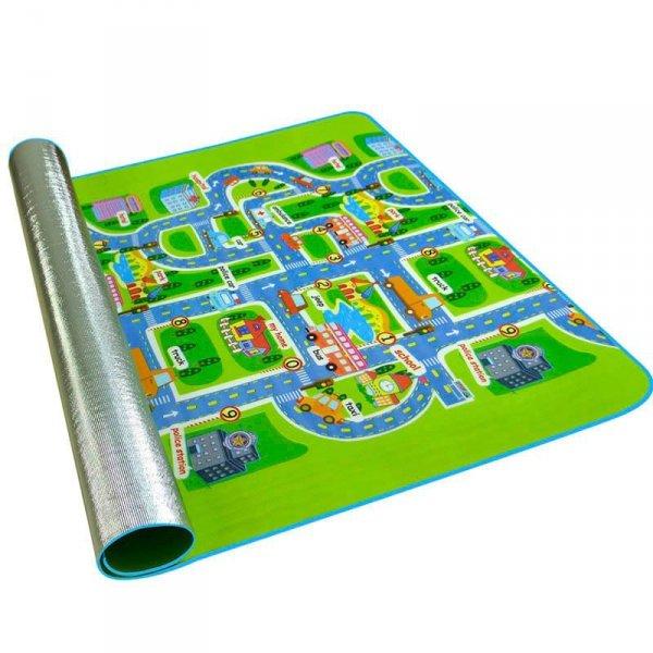Mata Edukacyjna piankowa dla dzieci ulica 160x200cm