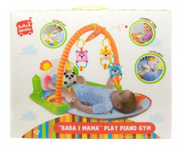 Mata Edukacyjna dla dzieci  3w1 małpka + pianinko