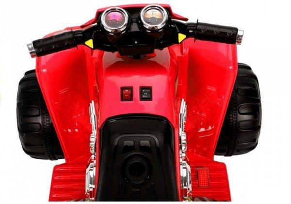 Quad na Akumulator Duże Koła Czerwony
