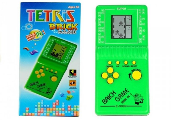 Gra Elektroniczna Tetris Kieszonkowa Zielona