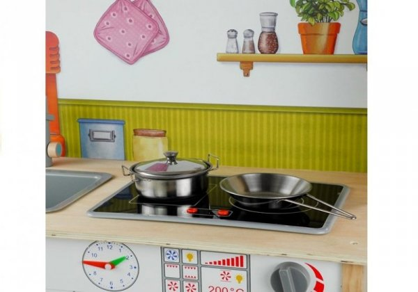 Kuchnia Drewniana Dla Dzieci Meggie Biała Dodatki