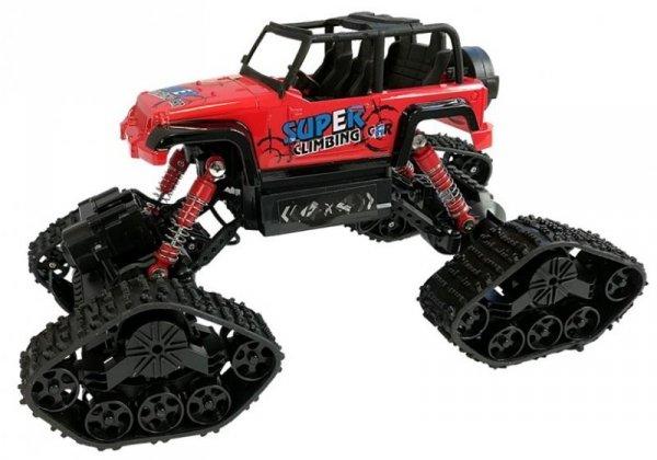 Jeep Zdalnie Sterowane Terenowe R/C Czerwony 4x4