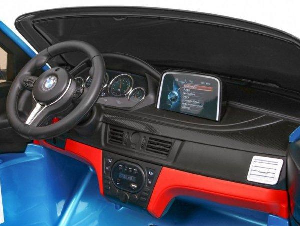 Auto na akumulator BMW X6M 2 os. XXL Lakierowany Niebieski