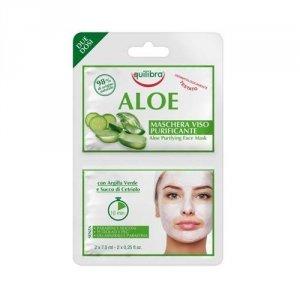 EQUILIBRA Aloe Maschera Viso Purificante Purifying Face Mask oczyszczająca aloesowa maseczka do twarzy 2x7,5ml