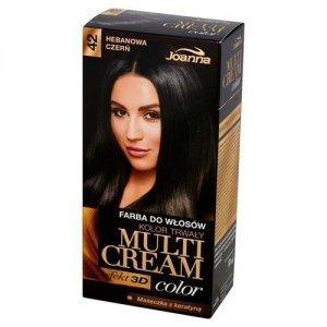 JOANNA Multi Cream Color farba do włosów 42 Hebanowa Czerń