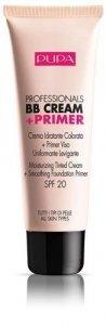 PUPA Professionals BB Cream & Primer SPF20 baza pod makijaż do wszystkich typów cery 50ml (001 Nude)