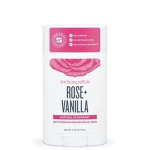 SCHMIDT'S Natural Deodorant naturalny dezodorant w sztyfcie Róża & Wanilia 58ml