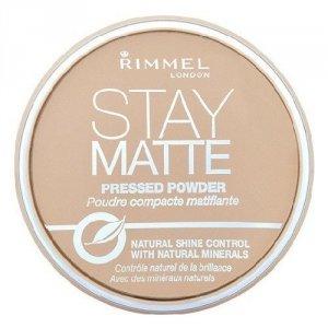 RIMMEL LONDON Stay Matte Long Lasting Pressed Powder puder prasowany dla kobiet 14g (009 Amber)