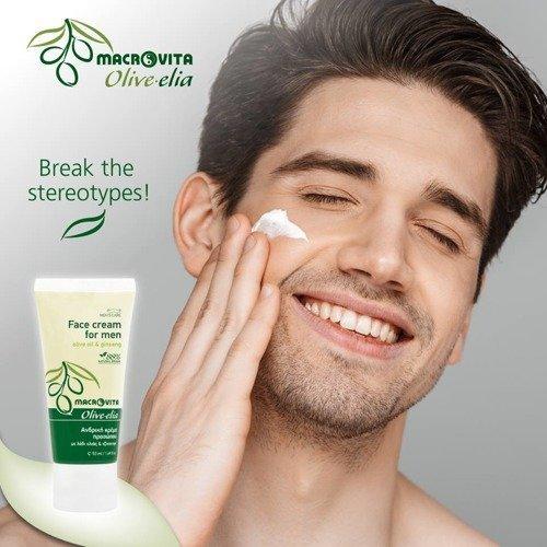 MACROVITA OLIVE-ELIA nawilżający krem do twarzy dla mężczyzn z bio-oliwą i bio-chmielem 50ml