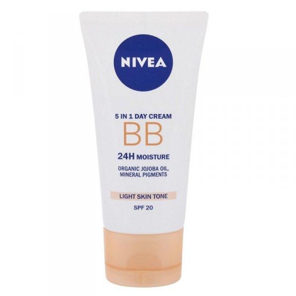 NIVEA BB Cream 5in1 Beautifying Moisturizer, SPF10 nawilżający krem BB dla kobiet 50ml (Light)
