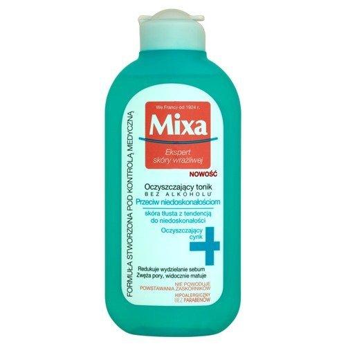 MIXA Ekspert skóry wrażliwej oczyszczający tonik przeciw niedoskonałościom do skóry tłustej 200ml