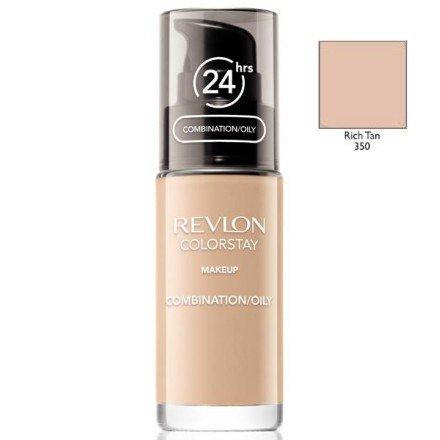 REVLON Colorstay Makeup Combination Oily Skin podkład do twarzy do skóry tłustej i mieszanej 30ml (350 Rich Tan)