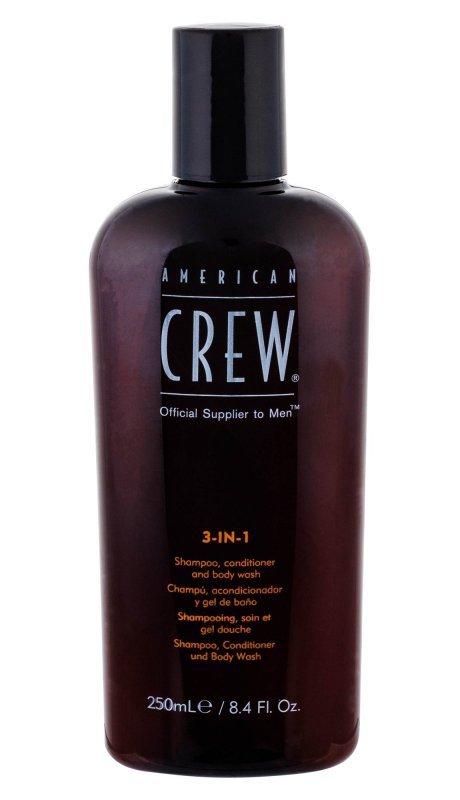 American Crew 3-IN-1 Shampoo, Conditioner & Body Wash (Szampon do włosów, M, 250ml)