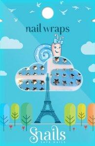 Naklejki na paznokcie, Nail Wrap – Blue Stars, niebieskie gwiadzy