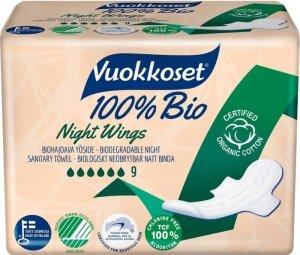 Vuokkoset, 100% BIO, Podpaski ze Skrzydełkami na noc,  9szt.