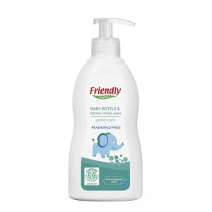Friendly Organic, Płyn do mycia butelek dziecięcych, bezzapachowy, 300ml Dispenser