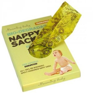 Beaming Baby, Biodegradowalne Zapachowe Worki na Zużyte Pieluszki, 60szt.