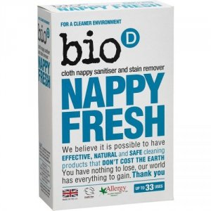 Bio-D, Nappy Fresh, dodatek do prania pieluch, 500g