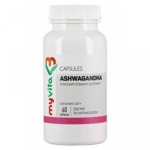 MyVita Ashwagandha ekstrakt 250mg, 60kaps.