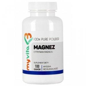 MyVita Magnez w proszku 100g - Cytrynian Magnezu