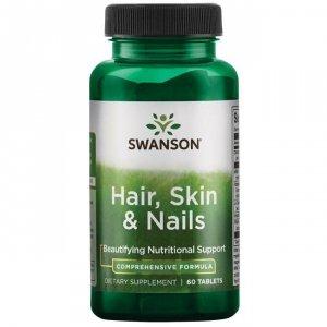 SWANSON Hair, Skin & Nails 60tabl. - Włosy, skóra, paznokcie