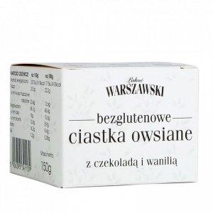 ŁAKOĆ WARSZAWSKI - Ciastka owsiane z czekoladą i wanilią bezglutenowe 150g