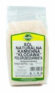 SMAKOSZ Sól naturalna kamienna półgruboziarnista Kłodawa niejodowana 1kg