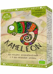 KAMELEON - KASZKA WIELOZBOŻOWA Z 8 RÓŻDŻKAMI SMAKU (LIOFILIZOWANE OWOCE I WARZYWA) BIO (300 g + 16 g) - HELPA