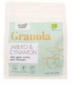 GRANOLA JABŁKO - CYNAMON BEZGLUTENOWA BIO 200 g - PURE & SWEET