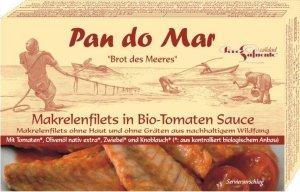 MAKRELA FILETY W BIO SOSIE POMIDOROWYM 120 g (90 g) - PAN DO MAR