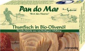 TUŃCZYK BONITO W BIO OLIWIE Z OLIWEK EXTRA VIRGIN 120 g (90 g) - PAN DO MAR