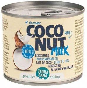 COCONUT MILK - NAPÓJ KOKOSOWY BEZ GUMY GUAR (22 % TŁUSZCZU) BIO 200 ml (PUSZKA) - TERRASANA