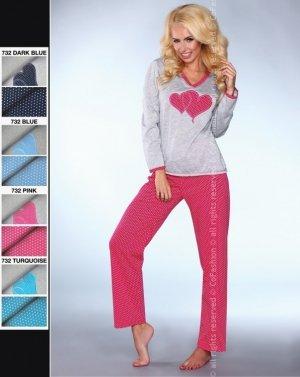 MODEL 732 piżama groszki