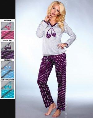MODEL 735 piżama groszki
