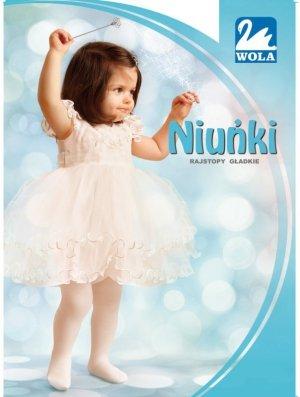 NIUNIE - Rajstopy,  cienka bawełna, gładkie 0-2 lata.
