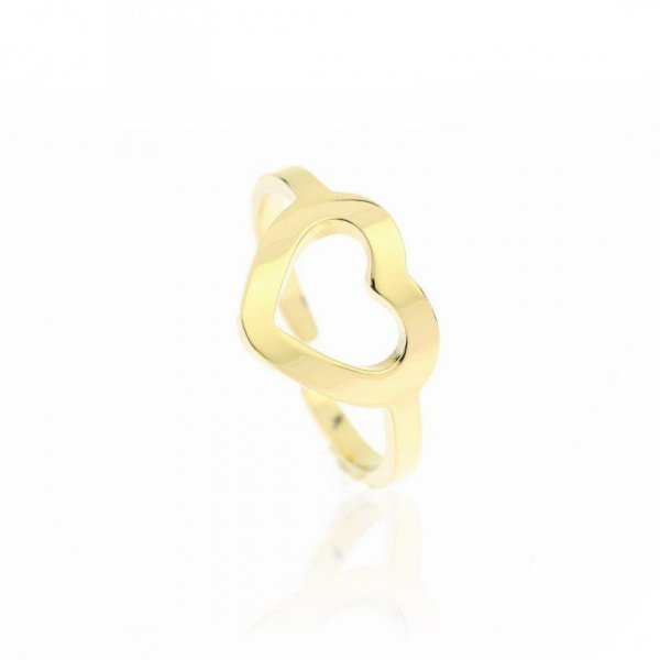 Pierścionek stal chirurgiczna platerowana złotem PST603, Rozmiar pierścionków: US6 EU11