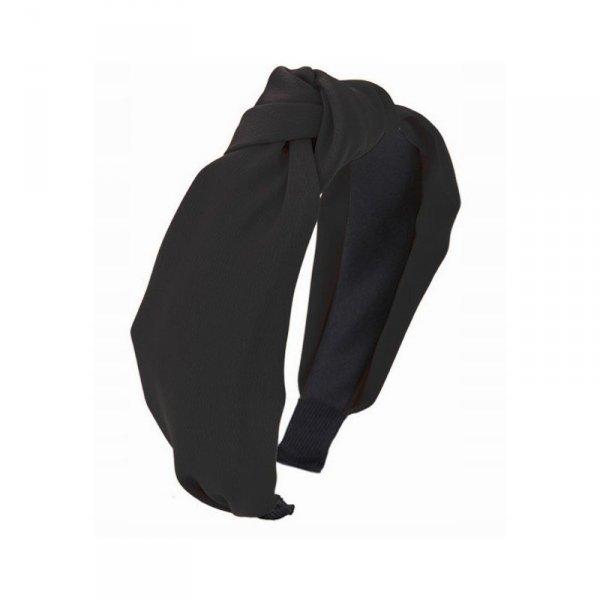 Opaska turban z materiału black O228CZ